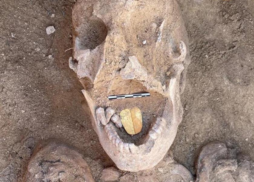 Az aranynyelvű múmia.