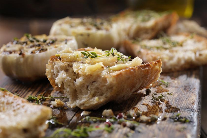 fokhagymás baguette recept