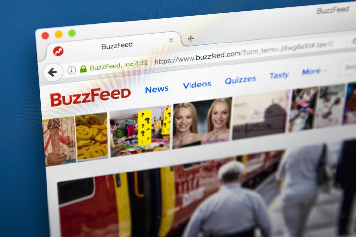 A BuzzFeed honlapja
