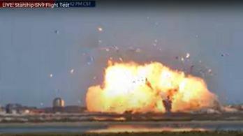 Földet éréskor robbant fel a SpaceX Csillaghajója