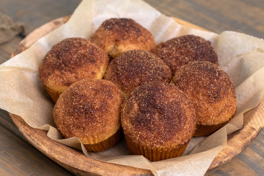 Ellenállhatatlan fahéjas kürtőskalácsmuffin: két kedvenc, egy süti