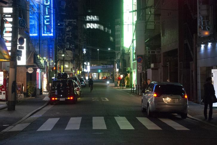 Utolsó este Oszakában, nem mondom, berúgtunk, aztán másnap reggel léptünk az országból.