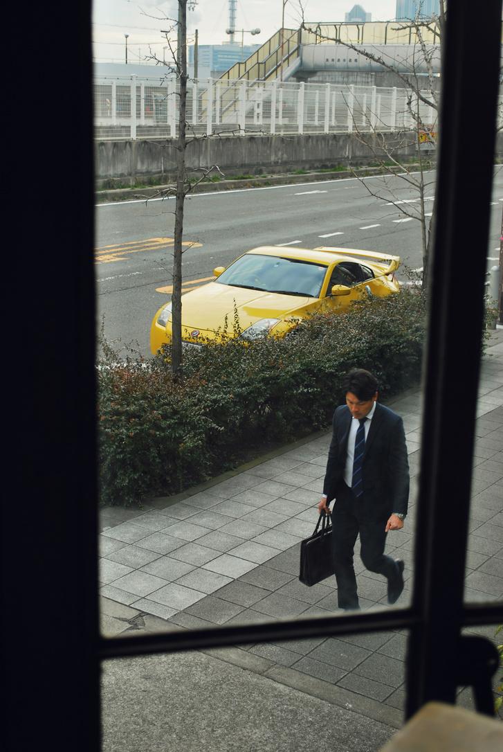 A salaryman egy szép példánya.