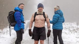 Ez a skót férfi félmeztelenül túrázik, hogy oldja a koronavírus idején rátört stresszt