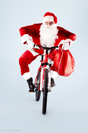 stockfresh 1092917 santa-on-bicycle sizeM