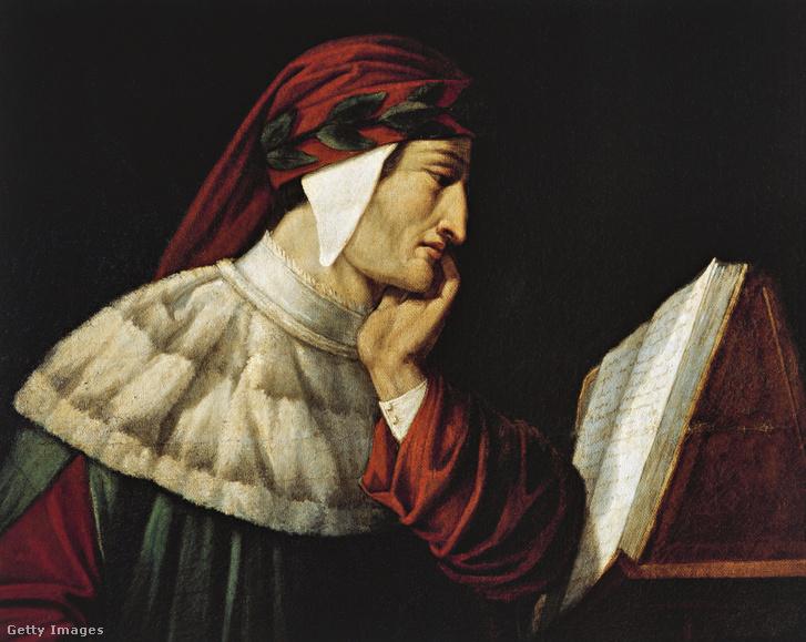 Dante Alighieri Attilio Roncaldier festményén