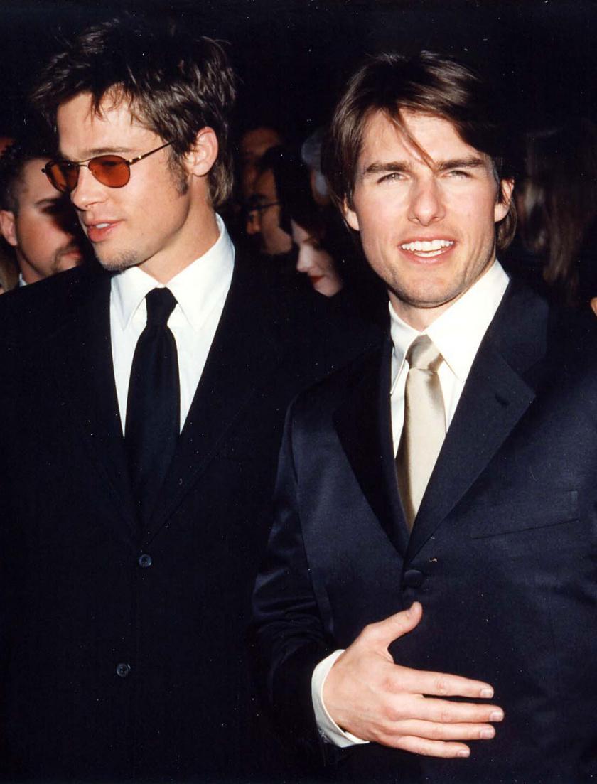 Brad Pitt és Tom Cruise 1998-ban.