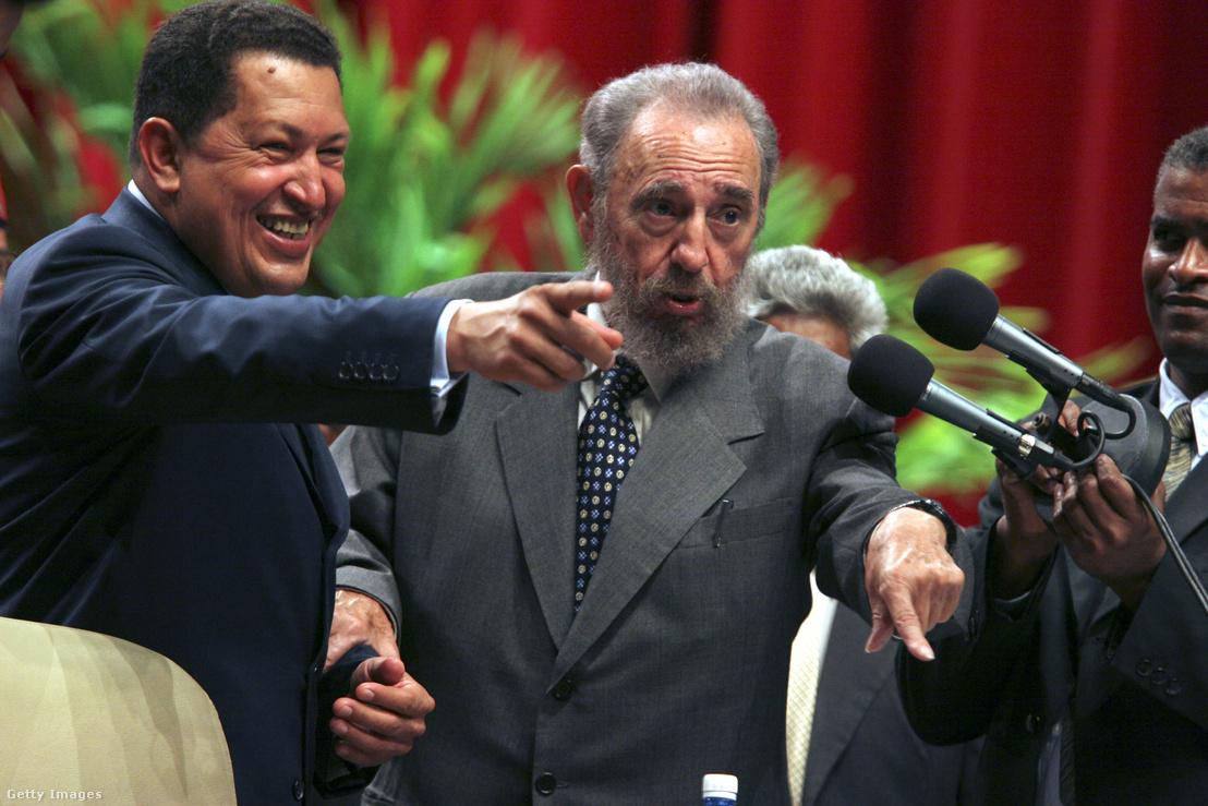 Hugo Chávez és Fidel Castro 2005-ben