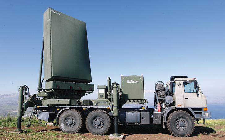 EL/M 2084 radar mobil változata teherautóra telepítve