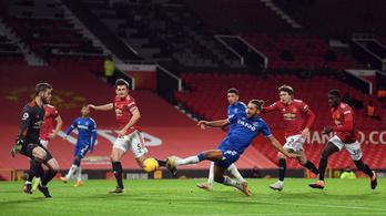 Bruno Fernandes csodagólt lőtt, de az Evertoné volt az utolsó szó az Old Traffordon