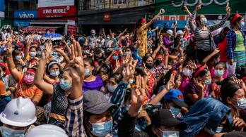 Újabb több tízezres tüntetés kezdődött Mianmarban