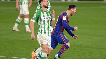 Hátrányból, bombagóllal nyert a Barcelona a Betis otthonában
