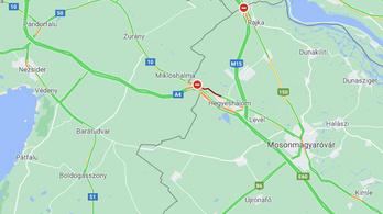 Hét kilométeres a torlódás az M1-esen