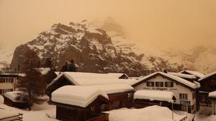 Nem filter, nem photoshop: nagy felhőkben érkezett a szaharai homok az Alpokba