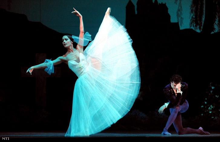 Popova Aleszja a Giselle című balettjének próbáján 2011. április 27-én a Magyar Állami Operaházban.