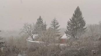 Már hó borít mindent Budapesttől északra