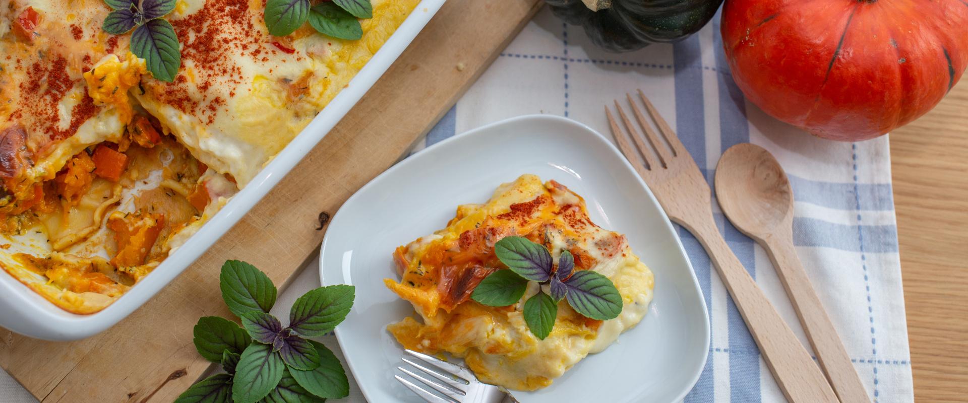 sütőtökös lasagne cover