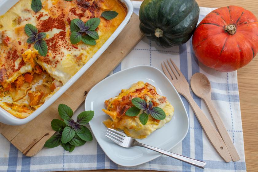 sütőtökös lasagne recept