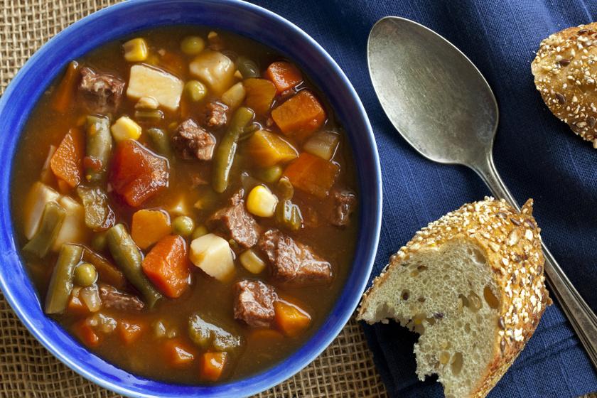 zöldséges marhahúsleves recept