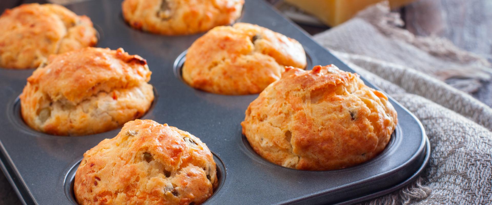 sonkás sajtos szárított paradicsomos muffin cover