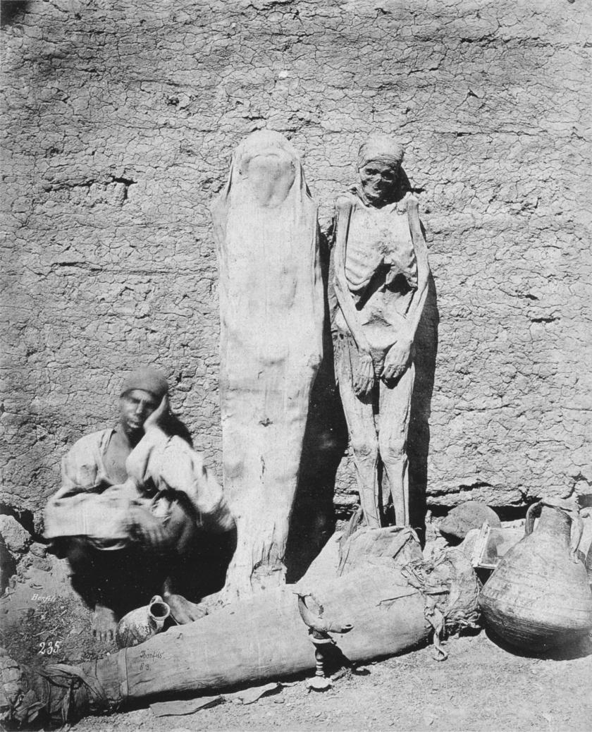Egyiptomi múmiakereskedő, 1875.