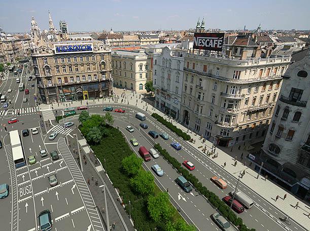 Kattintson Budapest új főutcájának 360 fokos látványtervéért!