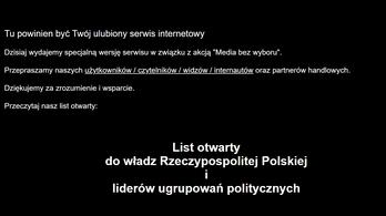 Számos lengyel médium felfüggesztette működését egy törvény miatt