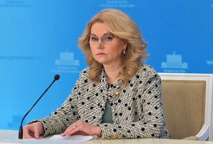 Tatyana Golikova orosz miniszterelnök-helyettes.