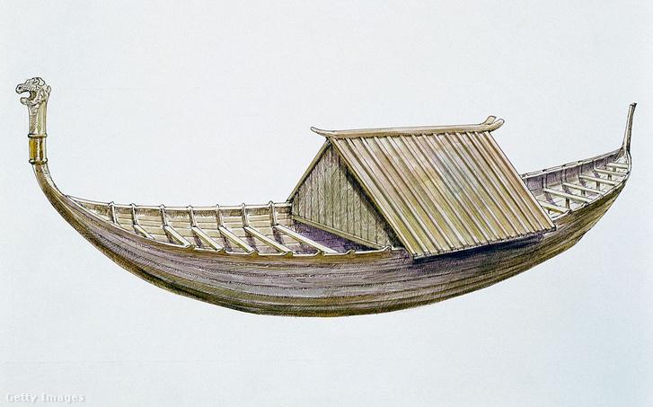 A Sutton Hoo-i hajósír rekonstruált rajza