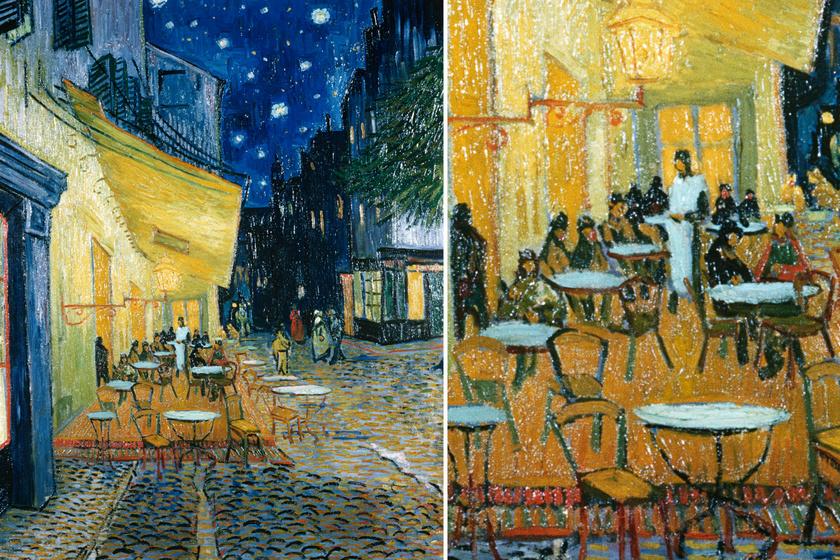 Jared Baxter független művészeti kutató szerint Van Gogh a Kávézó terasza este című művébe Jézus és a 12 apostol alakját csempészhette bele: a Megváltó a felszolgáló személyében, az apostolok a vendégekében jelennek meg. Baxter szerint Van Gogh ezzel a jelenettel Da Vinci előtt tisztelgett, akinek Az utolsó vacsora című alkotását idézte.