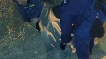 A fagyhaláltól mentettek meg egy férfit a rendőrök