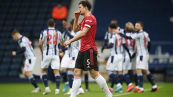 A kiesés elől menekülő West Brom megtréfálta a Manchester Unitedet