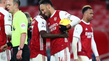 Aubameyang 200. gólja is kellett az Arsenal győzelméhez