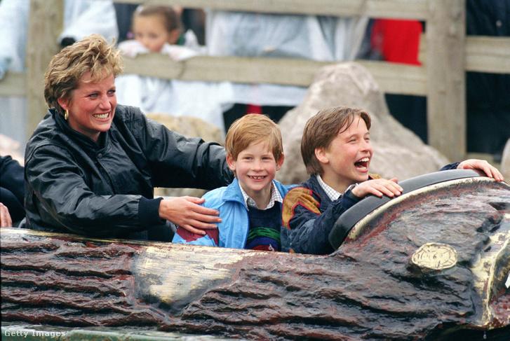 Lady Diana és gyermekei: Vilmos és Harry