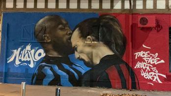 Graffitivel hangolnak a szurkolók a milánói derbire