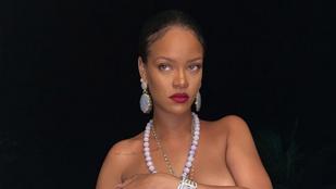 Rihannát megkérték, hogy ne viseljen fehérneműt, ő pedig szót fogadott, de csak félig