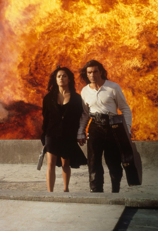 Salma Hayek és Antonio Banderas a Desperado című filmben.