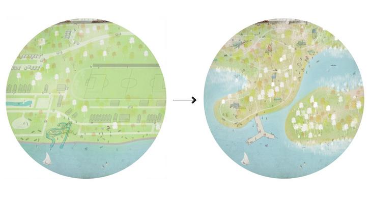 A keszthelyi part most és természetközeli állapotban