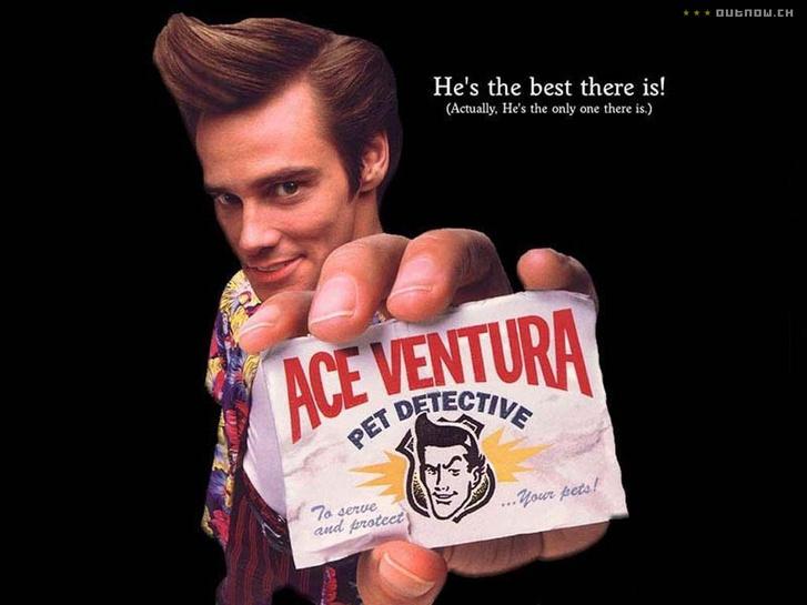 Az Ace Ventura: Állati nyomozoo első részének egyik filmplakátja