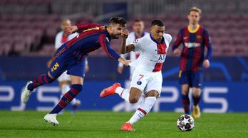 Mbappé gálázott Barcelonában, a PSG már fél lábbal a legjobb 8 között