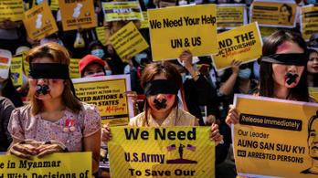 Az Egyesült Államok kiviszi a diplomatáit Mianmarból