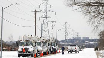 Ítéletidő Texasban, összeomlott az energiaellátás