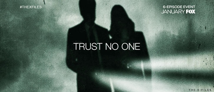 """Az X-Akták híres jelmondata: """"TRUST NO ONE"""" (Forrás: Fox Network)"""