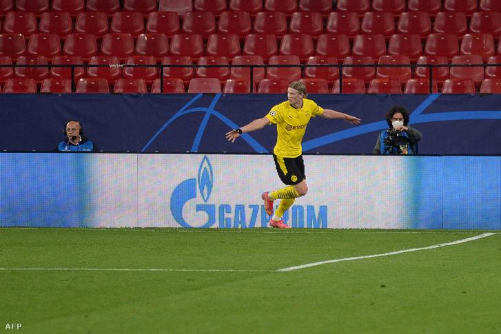 Erling Haalandra nem volt ellenszere a Sevillának, a norvég két gólja mellett egy gólpasszt is kiosztott