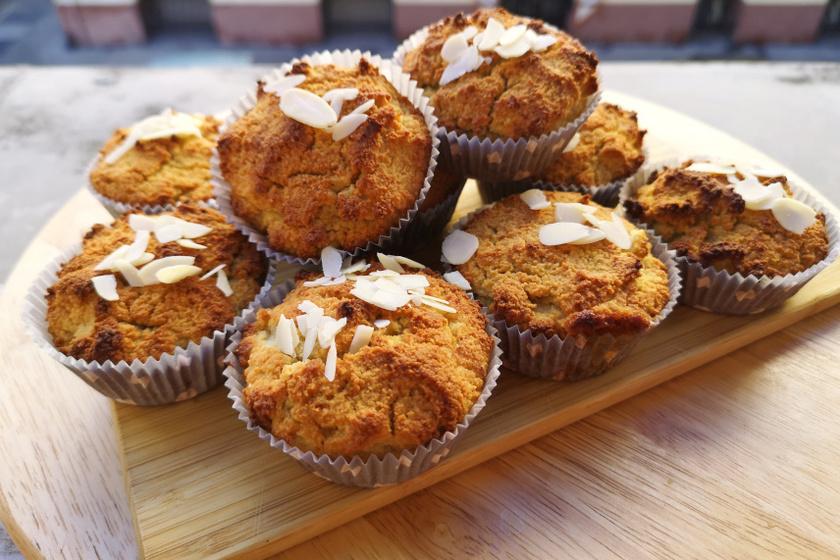 mandulalisztes muffin recept