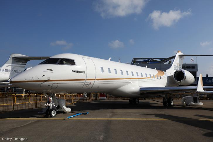 Egy Bombardier Global 6000 típusú repülőgép