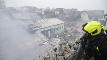 Lángolt egy ezer négyzetméteres raktárépület Budapesten