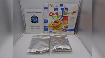 Kukoricapelyhes dobozokban akarták csempészni a 826 millió forint értékű kokaint