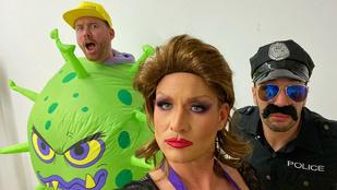 Istenes Bence már legalább három híresség Instáján feltűnt drag queenként