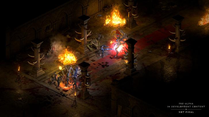 Diablo II Resurrected: a fejlesztőknek teljesen újra kellett alkotniuk az eredeti 2D-ről 3D-re a játék motorját (Forrás: Activision–Blizzard)